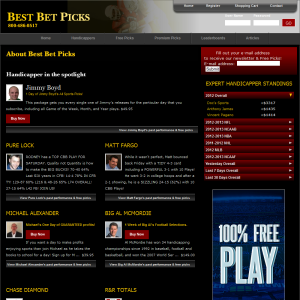 BestBetPick.com Website Design