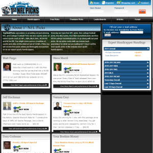 Multiple Handicapper Website Design for Sale