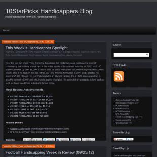 10StarPicks Handicapper Blog